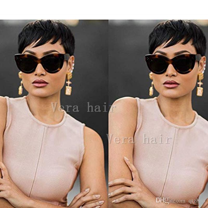 bc37ec097 Cheap Short Hair Lace Front Human Wigs African American Short Wigs For Black  Women 7A New Full Lace Human Hair Wig For Women Equal Wigs Cheap Wigs For  Black ...