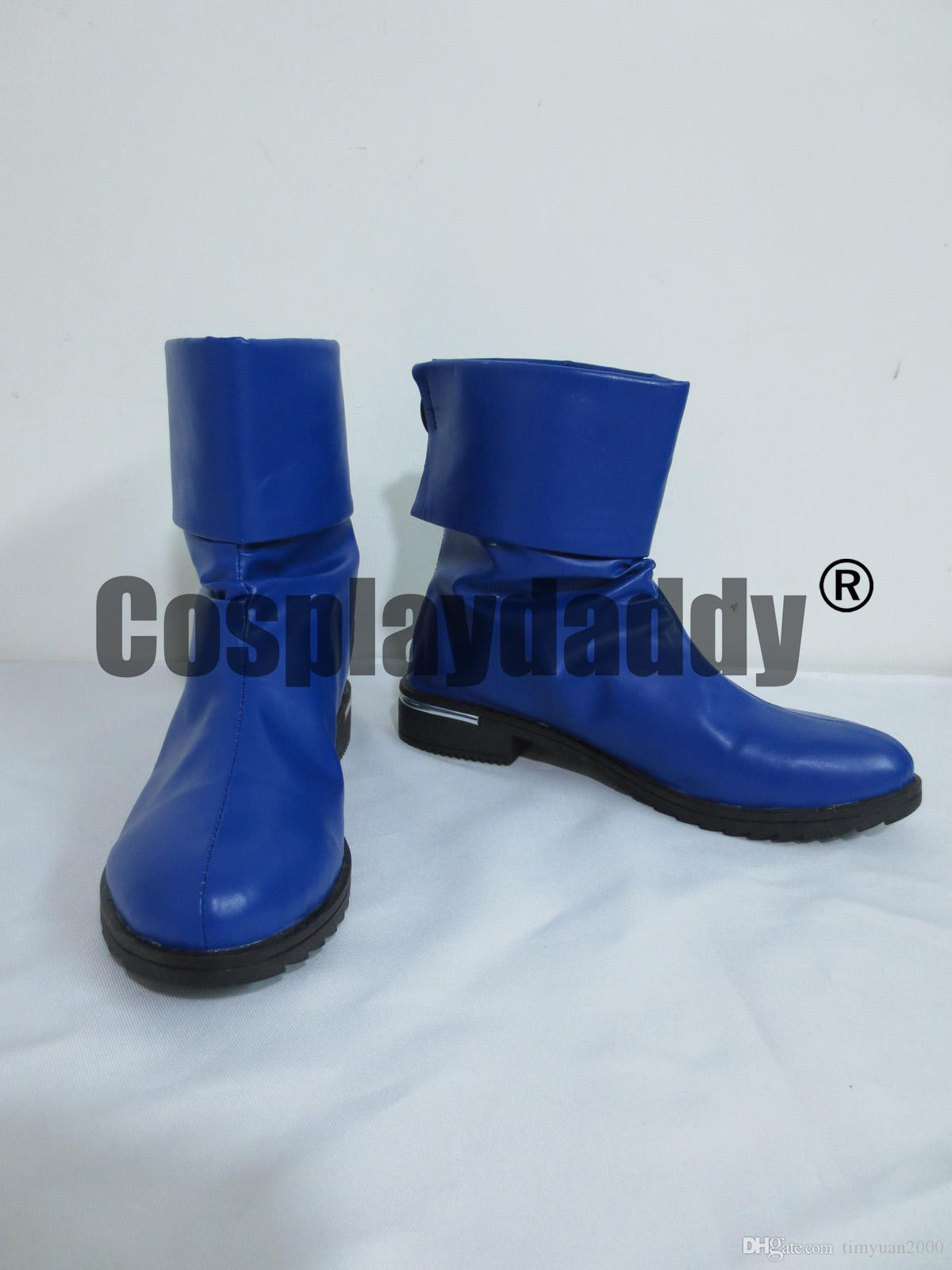 Teen Titans Raven Blue Short Halloween Cosplay Boots Shoes