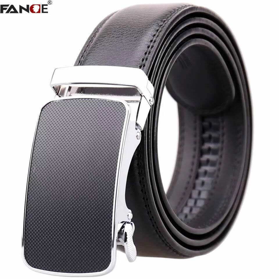 4b4629a4208 FANGE Men s Belt Genuine Leather Belt Cowskin Leather Automatic ...