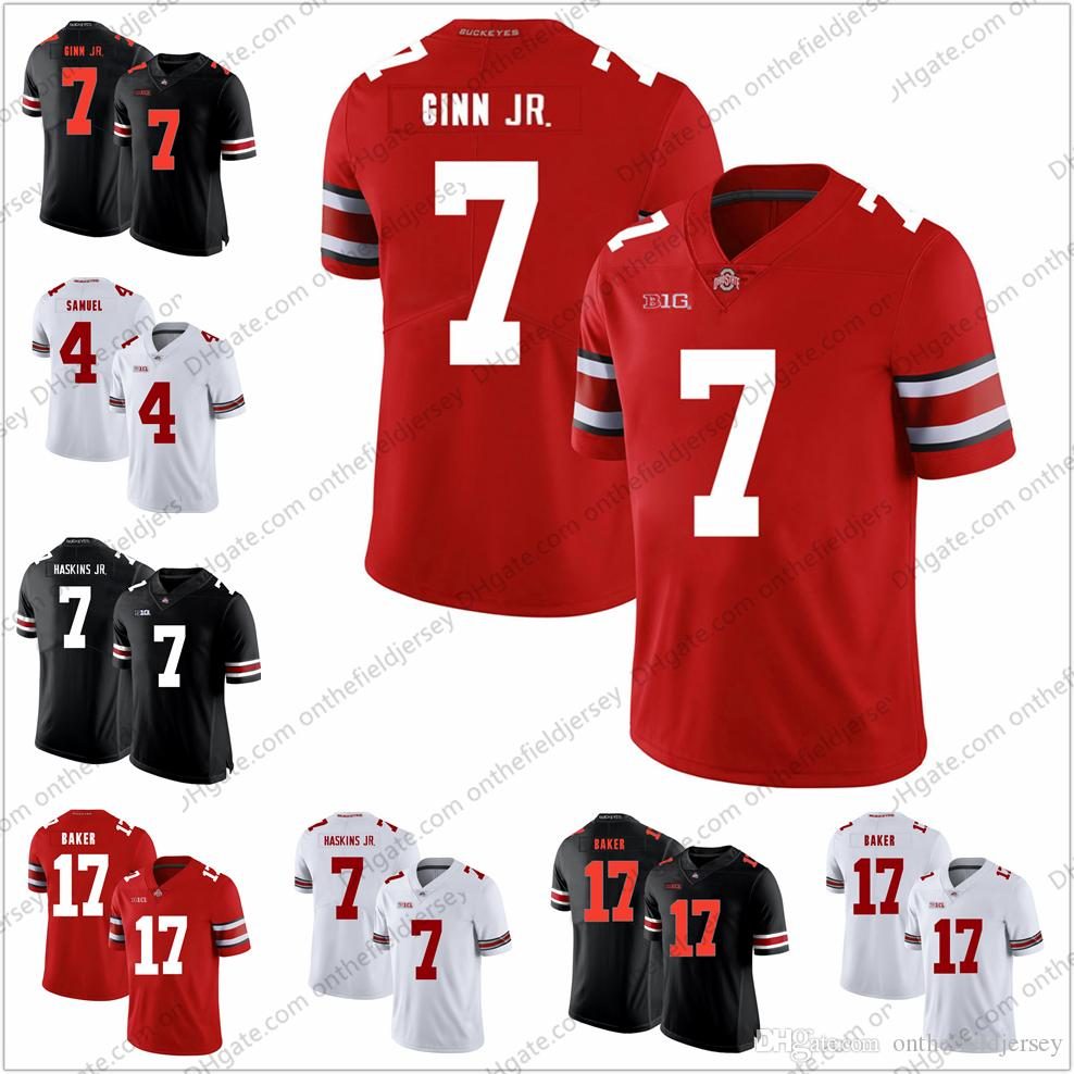 5e6ec442d 2019 Ohio State Buckeyes  7 Ted Ginn Jr. 17 Jerome Baker 4 Kurt Coleman 4  Curtis Samuel 4 Santonio Holmes NCAA College Football Jersey S 3XL From ...
