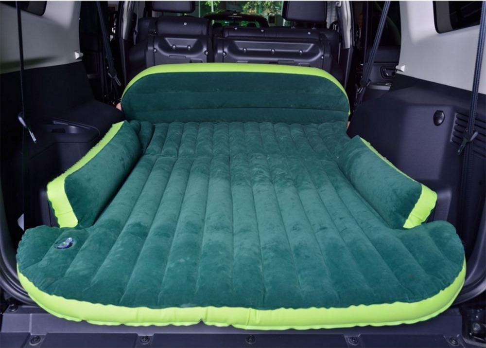 SUV Inflatable Mattress With Air Pump Travel Beach Camping pad Car Back  Seat Sleeping Rest Bed Mattresses Cushion