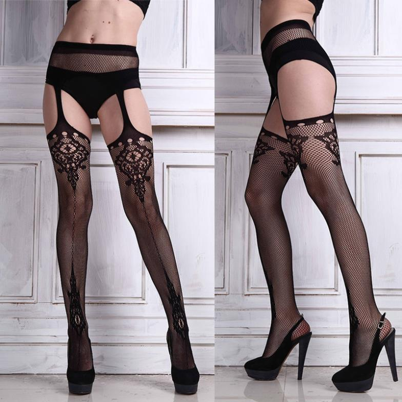 7dd45737917 2019 Sexy Ladies Black Lace Top Thigh Highs Leggings Stockings Garter Belt Socks  Women Accessories From Jst2015