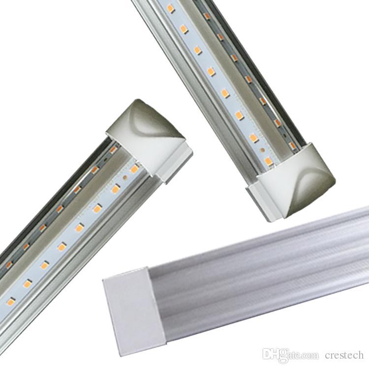 T8 Shop Lights 2ft 3ft 4ft 5ft Led Tube Light V Shape Integrated Led Tubes 2 3 4 5 Ft Cooler Door Freezer Led Lighting