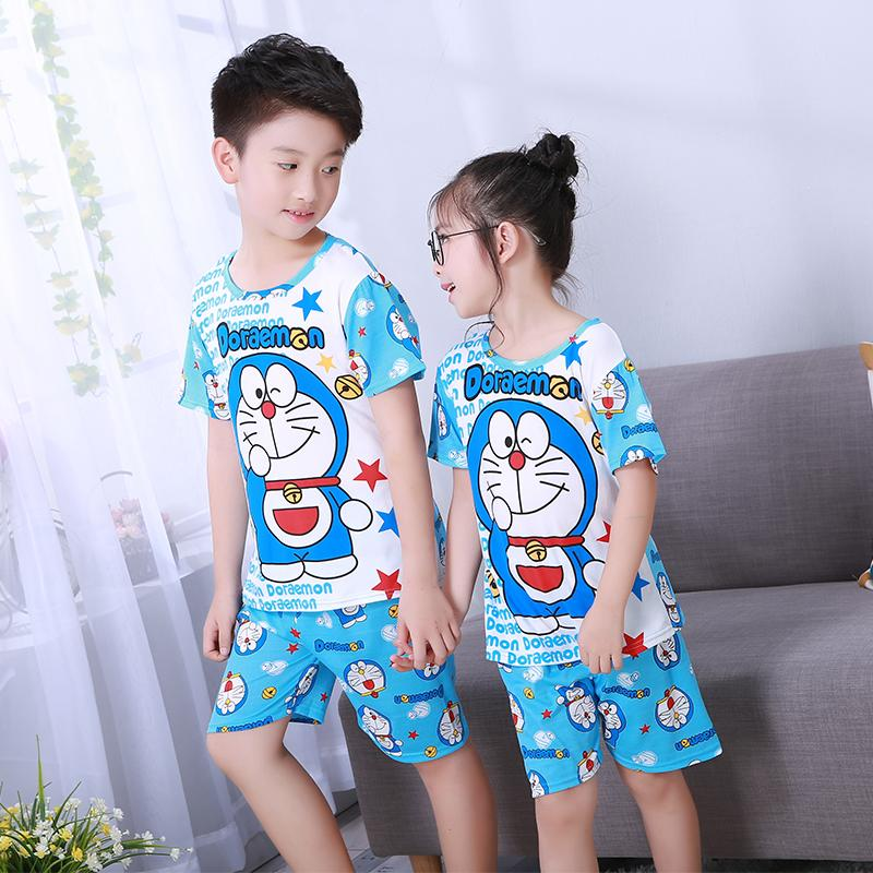 6a8dcd3c6fc4 Children S Pajamas Summer Short Sleeved Boy Pyjamas Girls Cartoon Home  Cloth Big Children S Sleepwear Set Kids Pajamas HK917 Baby Girl Christmas  Pajamas ...