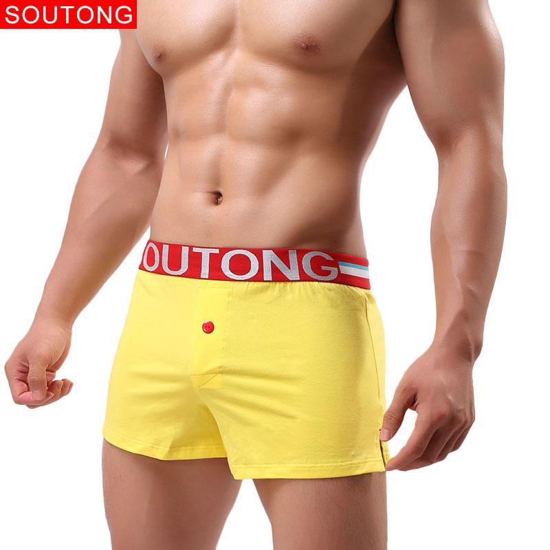Soutong 2019 Männliche Unterwäsche Männer Unterwäsche Boxer Shorts Baumwolle Gedruckt Unterhose Männer Cueca Boxer Calzoncillos Hombre Herren-unterwäsche Boxer