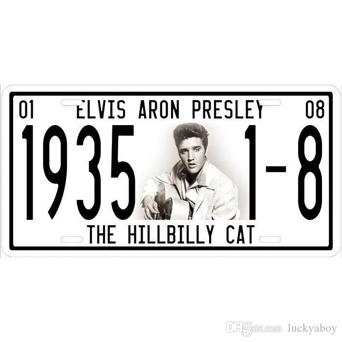 Elvis Aron Presley Hillbilly Cat Super Hot 3D Emboss Retro License Plates Vintage Tin Sign Art Wall Plaque decor Home Metal Painting Bar Pub