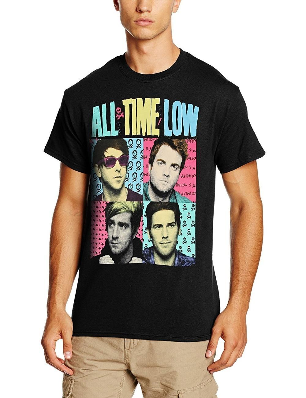 Custom T Shirts Cheap Graphic O Neck All Time Low Pop Art Mens