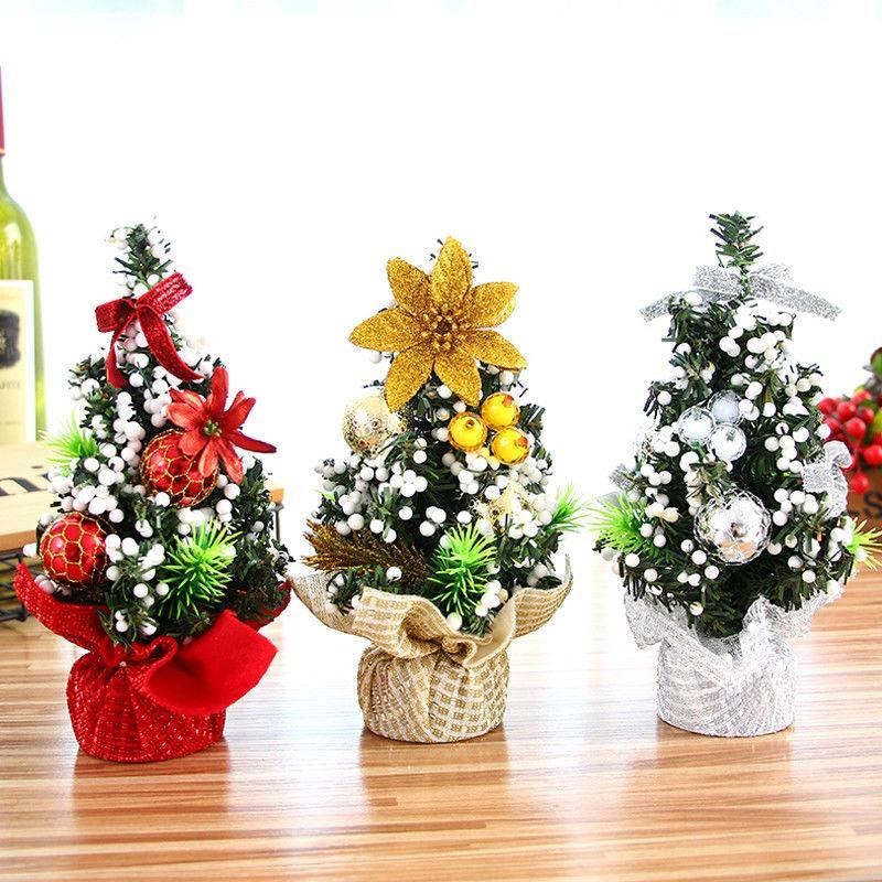 20cm Mini Christmas Tree Decor Desk Table Decor Small Party