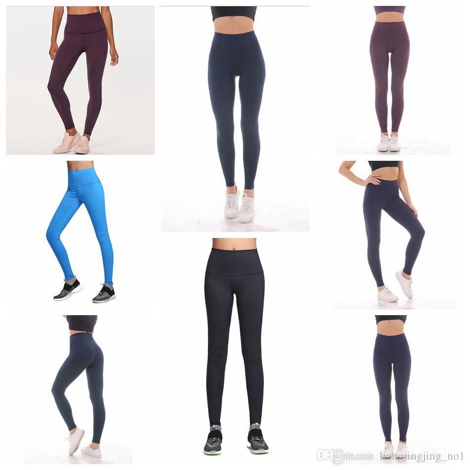 b3817778064d92 2019 Women Hight Waist Fitness Exercise Leggings Stretch Pants Trouser  Solid Yoga Leggings Seamless Sport Workout Leggings LJJO4529 From  Liangjingjing_no1, ...