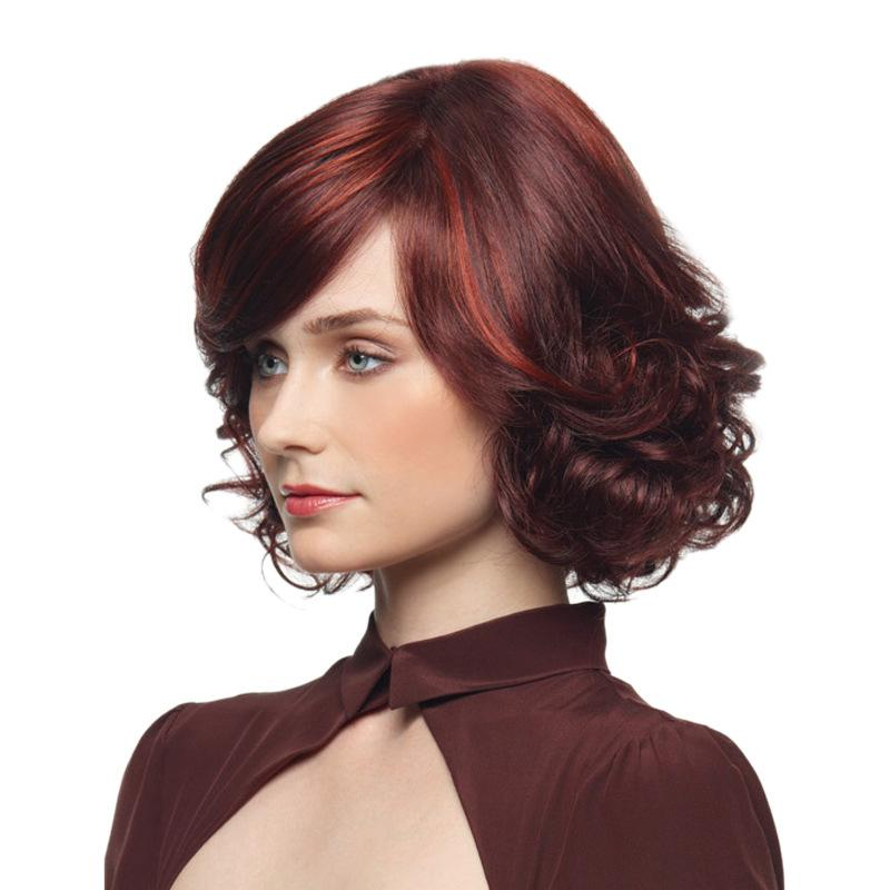 Fashion Hot Sell Burgundy Short Hair Wig Design For Woman And Girl In Life  Or Party Wig Dating Wig Wigs For Women Hair Wigs From Wzxstore 647920e84