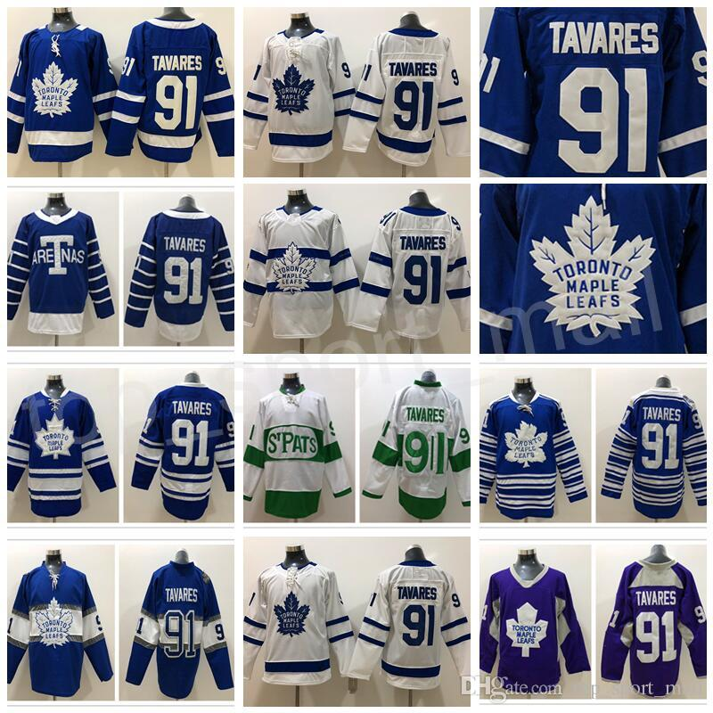 2019 Toronto Maple Leafs John Tavares Jersey 91 Blue White Winter Classic  Centennial Classic Arenas 2018 Stadium Series Custom Name Man Woman Kid  From ... a198289dd