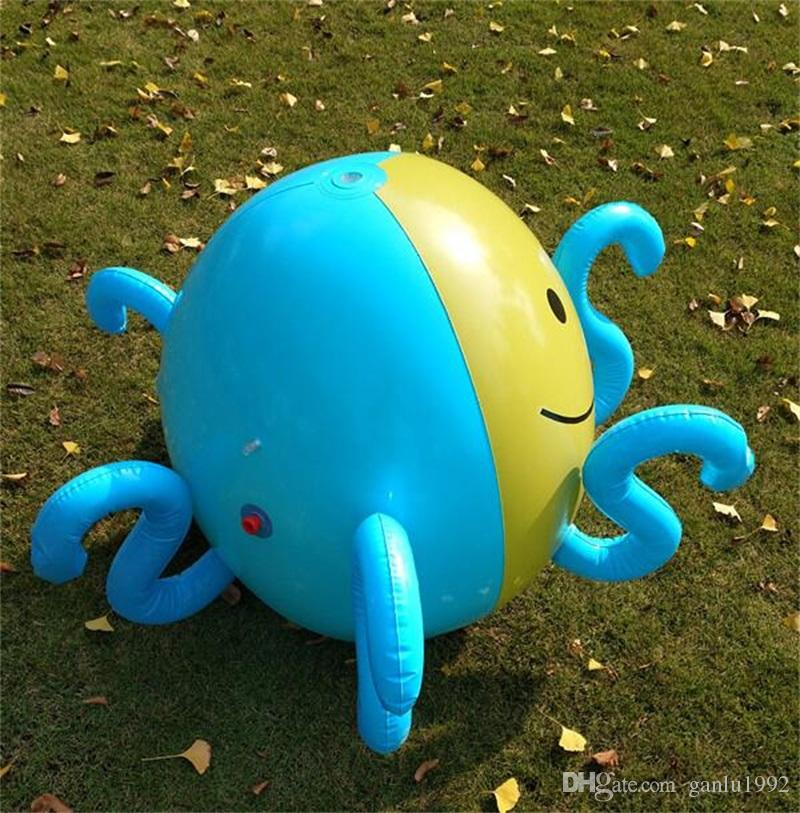 Inflatable Beach Ball An Octopus Toy That Can Spray Water Summer Spray Balloon Outdoors Lawn Play Toy Balls For Children 45rx W