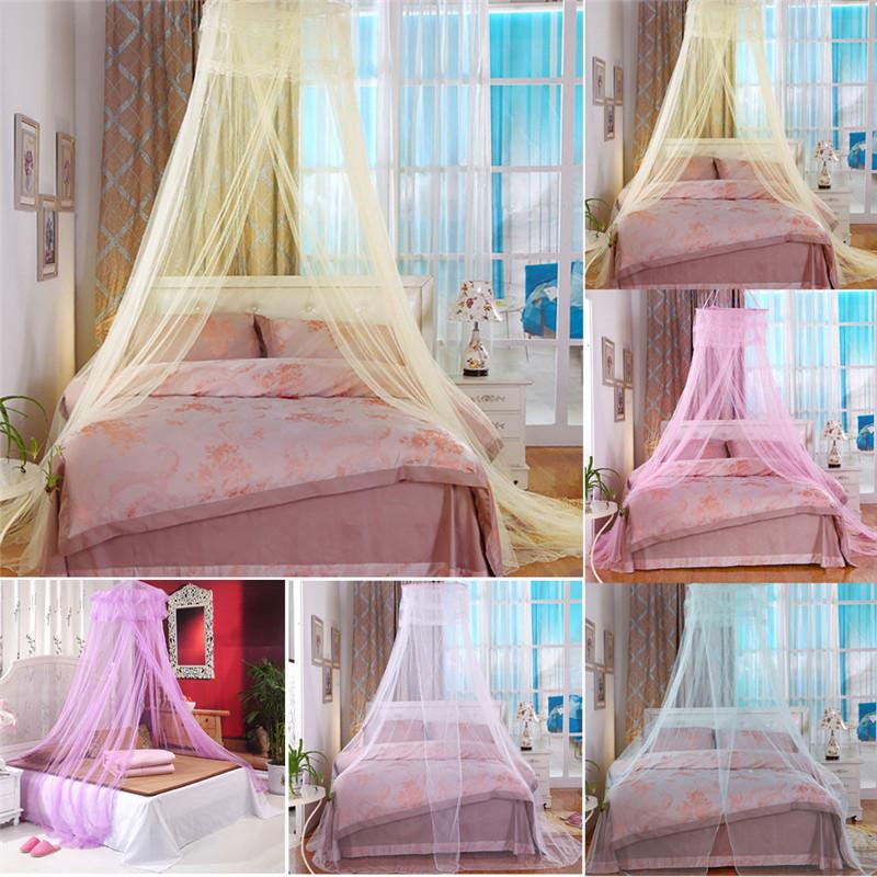 European Hung Dome Mosquito Net For Girl Double Canopy Bed Curtains Elegant Lace Princess Circular Nets Summer Bedroom HomeDecor Mosquito Net Designs ... & European Hung Dome Mosquito Net For Girl Double Canopy Bed Curtains ...