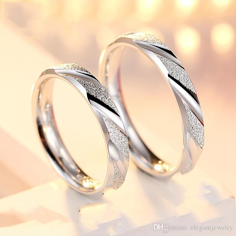 f32192263 Hot Sale 925 Sterling Silver Couple Rings for Women Men Wedding Engagement  Rings Band New Ring Jewelry N21 Couple Ring Solid 925 Silver Band Ring  Online ...