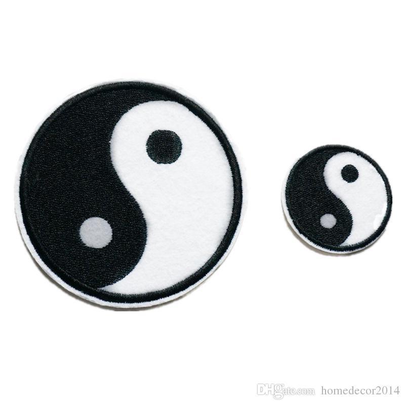 2018 2 Sizes Tai Chi Embroidery Patch Yin Yang Bipolarity Sew Iron