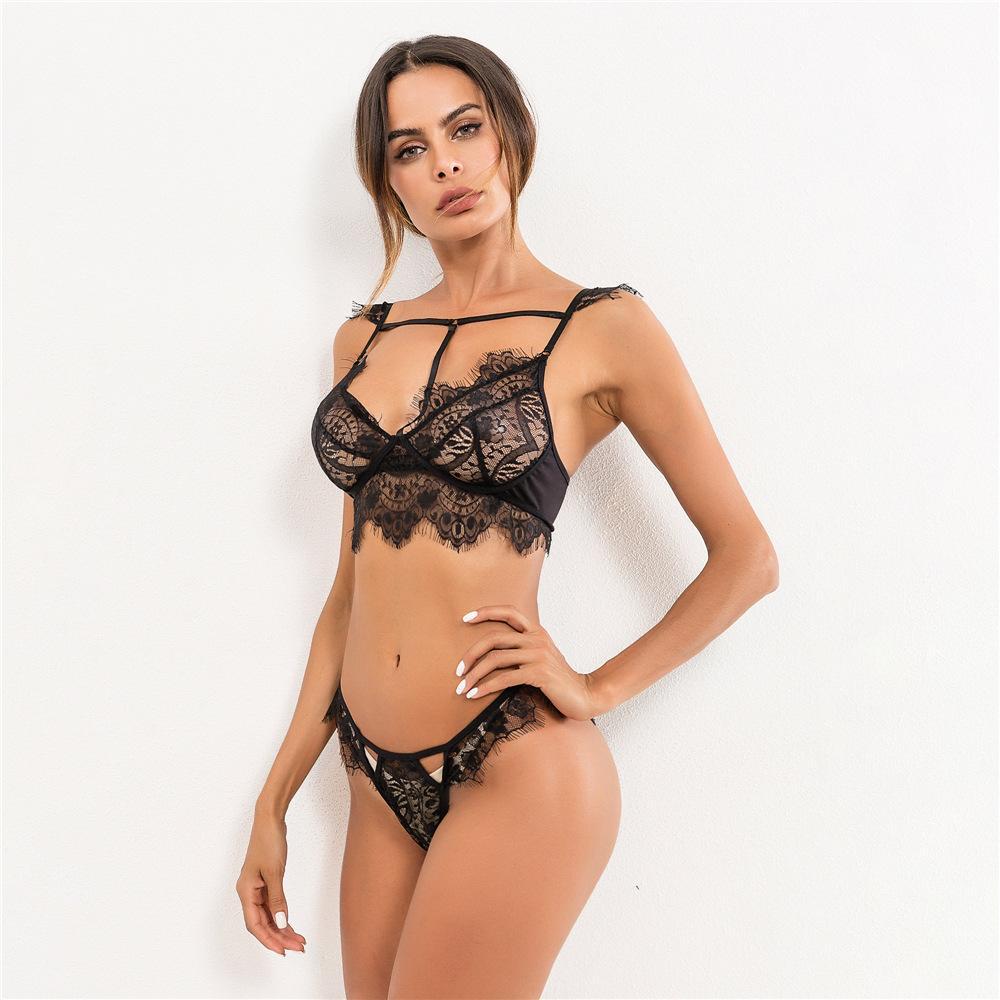d9e1f68fa Modelo De Lingerie Estação Independente 2018 Europeus E Americanos De  Comércio Exterior Das Mulheres Lace Lingerie Sexy Cinta Terno De Três  Pontos Lingerie ...