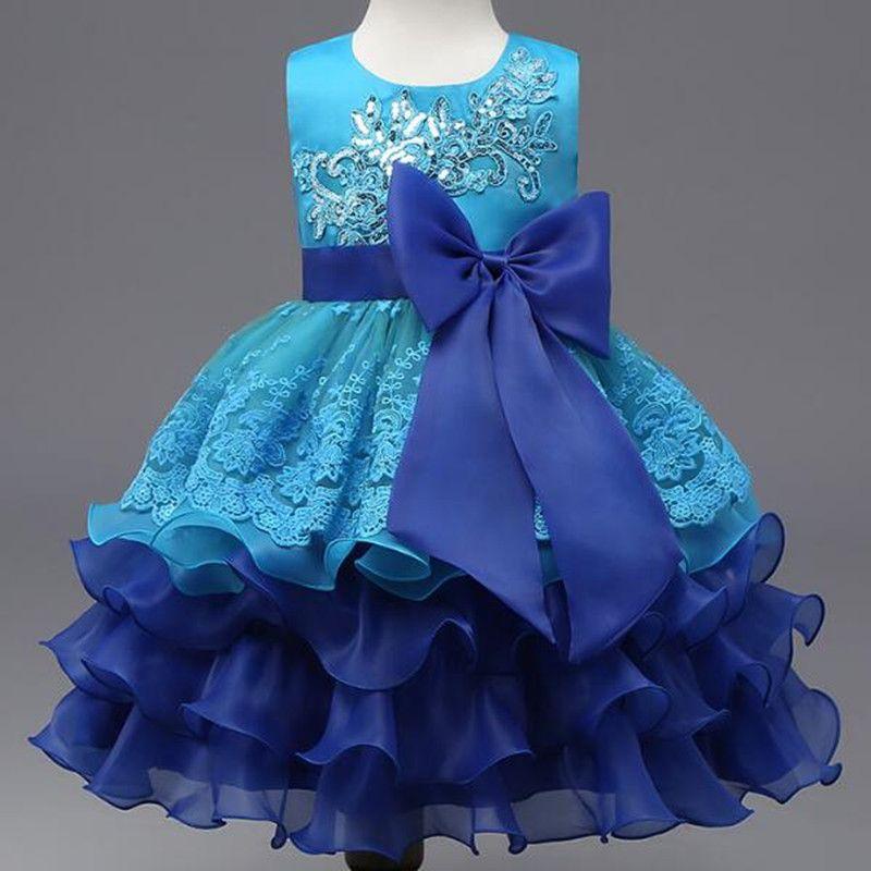 29dc74516d32 2019 New Baby Girls Princess Dresses Clothes Girls Show Skirt Girl Dance  Costume Children Flower Girls Clothing Ball Gown 3 8T LF016 From Jacyfengwu
