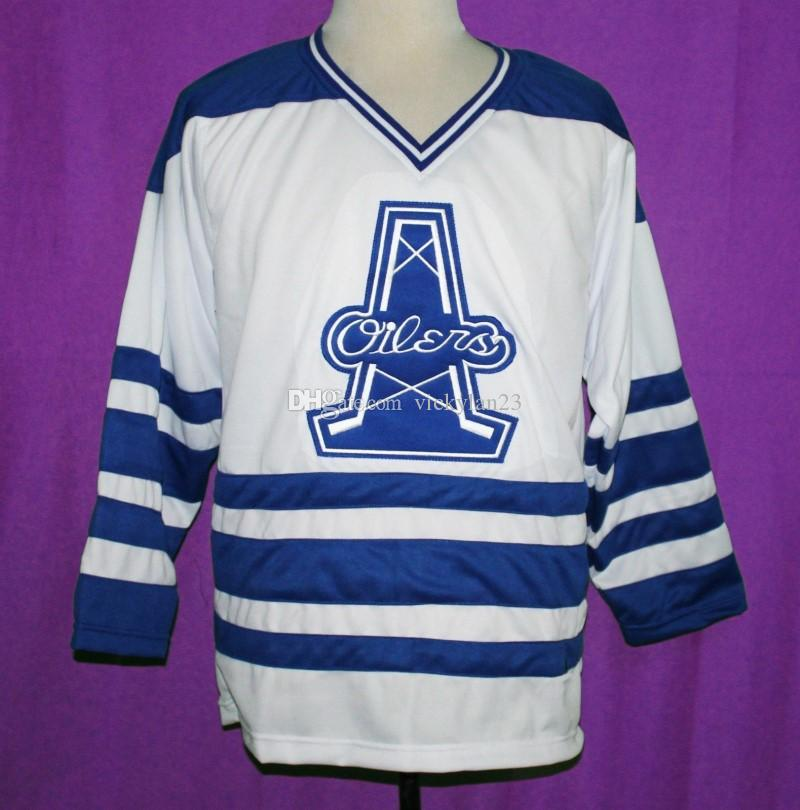 2018 Tulsa Oilers Retro Hockey Jersey Embroidery Sewing Custom Any