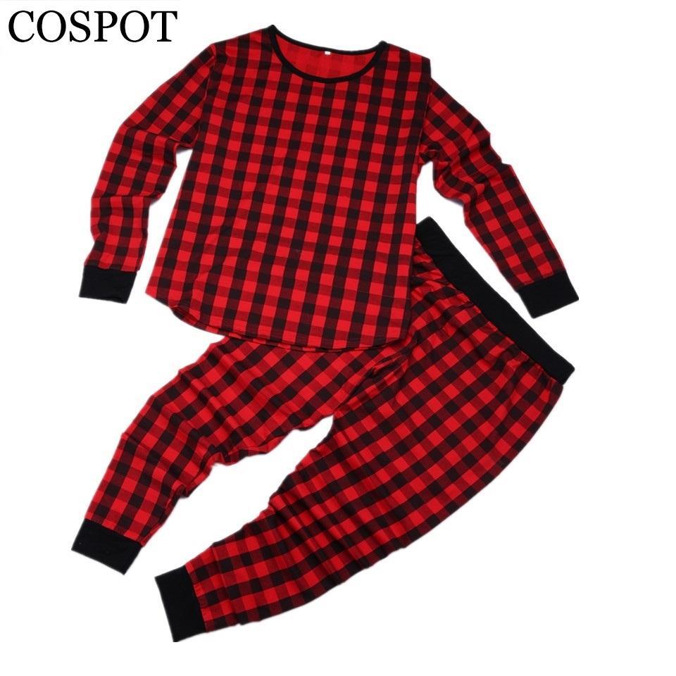 576a6d1d4b38 2019 COSPOT Kids Christmas Red Plaid Pajamas Set Newborn X Mas ...