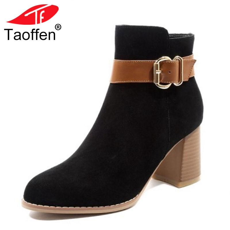 3133651fc270a1 Acheter Vente En Gros Femmes Bottes D'hiver Chaussures En Cuir Véritable  Femme Boucle Couleur Mixte Bottines Mode Chaussures Classiques Dames  Chaussures De ...