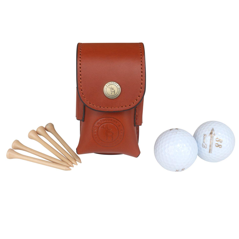 2019 Tourbon Golf Ball Bag Tee Holder Holds 2 Balls Divot Tool