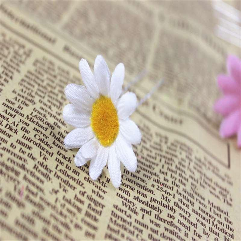 Hot sale Bohemia small flower orchid chrysanthemum flower hairpin jump simulation of U Clip Flower Bride's hair ornaments