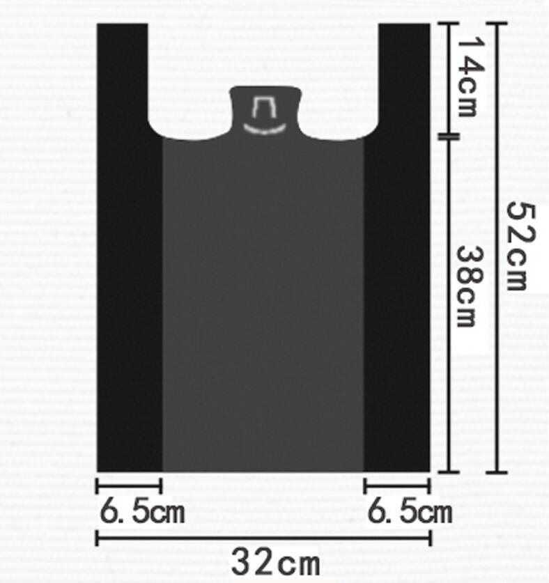 52 32cm Black Garbage Bags Kitchen Drawstring Trash Bags