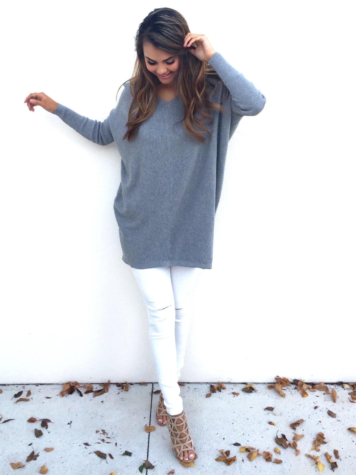 Femmes Automne Hiver Casual Lâche Chandail Dames Longues Pulls À Tricoter 2018 Nouveau Jumer Plus Taille Chandail De Noël