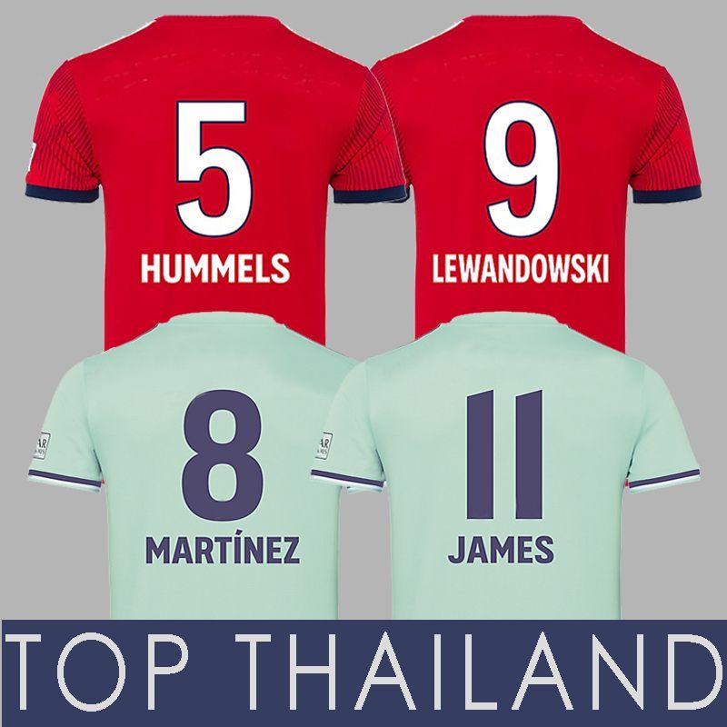 6108f63d8a7b3 Bayern Munich Munchen 2018 2019 James Rodriguez MARTINEZ MULLER LEWANDOWSKI  Jersey De Fútbol Tolisso 18 19 Camiseta De Fútbol Trikot TOLISSO Maillot ...