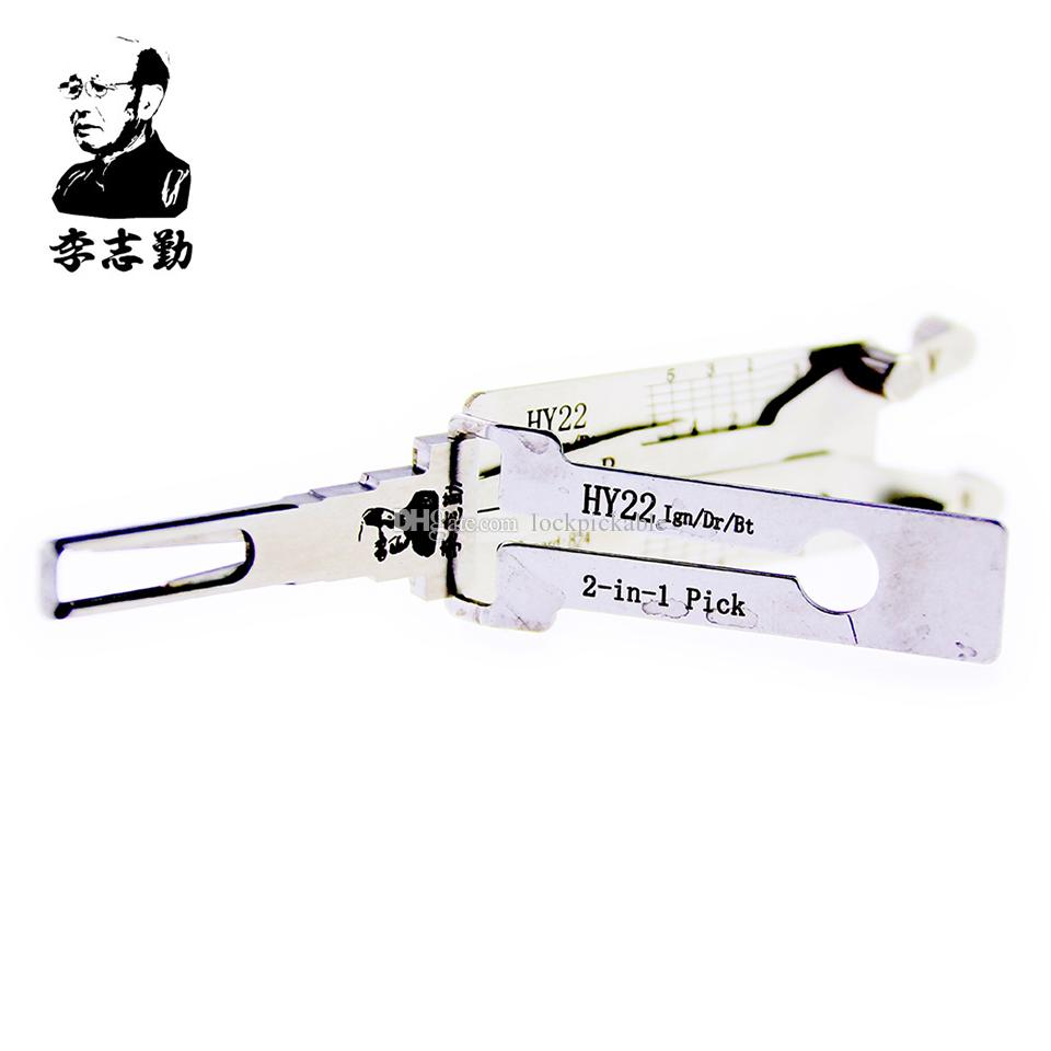 Mr. Li's Original Lishi HY22 2in1 Decoder and Pick - Best Automotive Locks Unlock Tools on the Market
