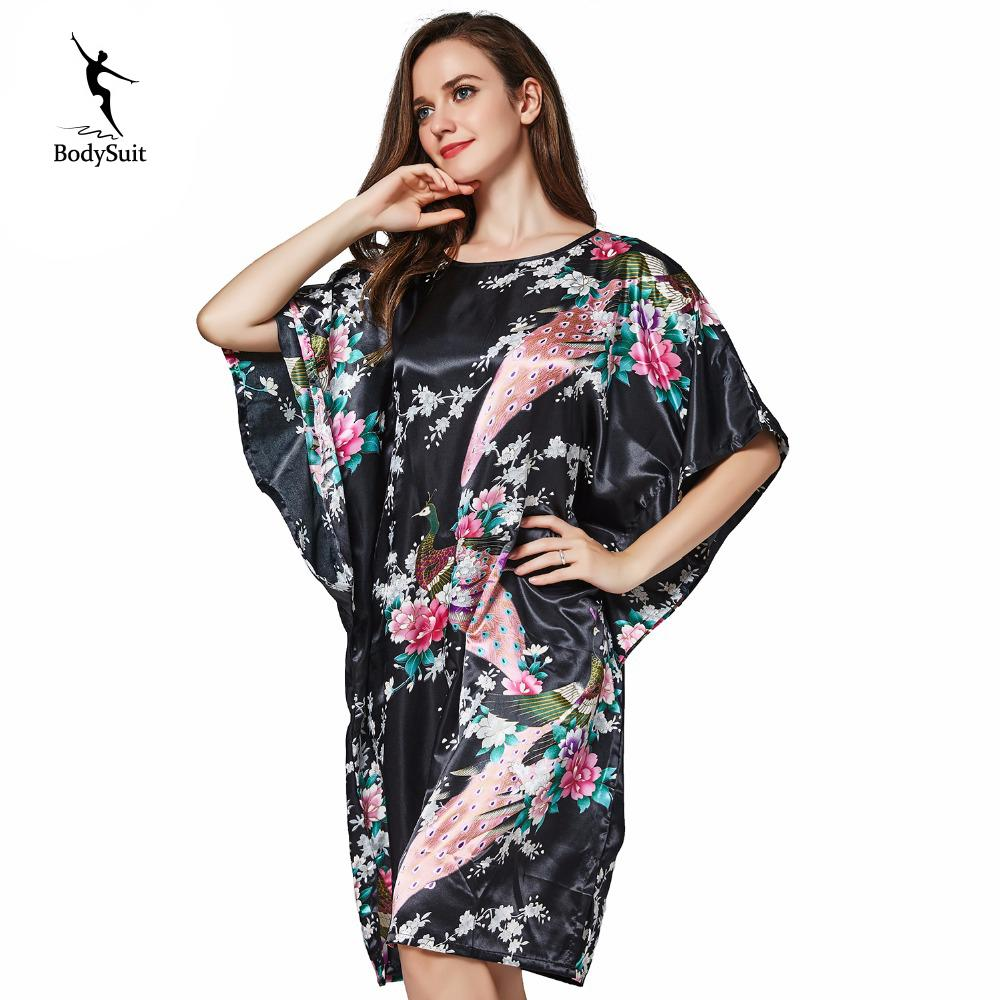 f127fcc9cd74a 2019 Womens Pyjamas Home Clothes Silk Robe Sleepwear Female Women Dresses  Nightgowns Robe Female Nightwear Solid Color V Neck Pajamas From Zhusa
