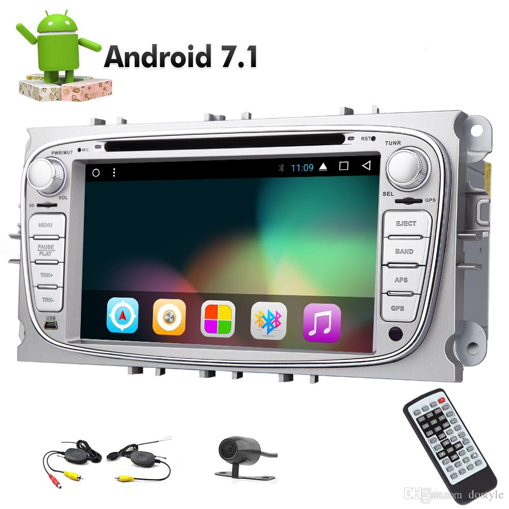 Wireless Backup Camera Android 7 1 Car DVD Player Octa Core 32GB 2Din Car  Stereo In Dash Autoradio GPS HeadUnit Car Radio Receiver