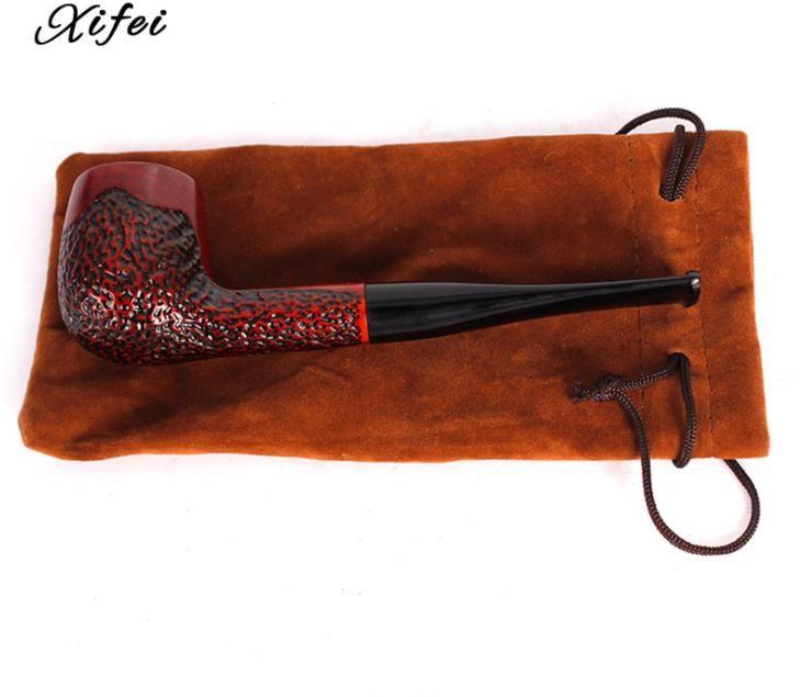 Nuevo filtro de caoba de tubo de varilla recta para hombres accesorios de fumar de tubo de sándalo rojo portátil