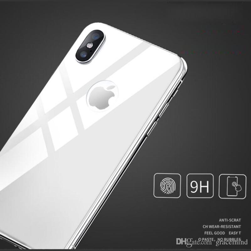 new arrival 82bf6 34948 Back Protective Ultra Thin Tempered Glass For iPhone X Back Screen  Protector Glass Cover For iPhone X phone Rear Film