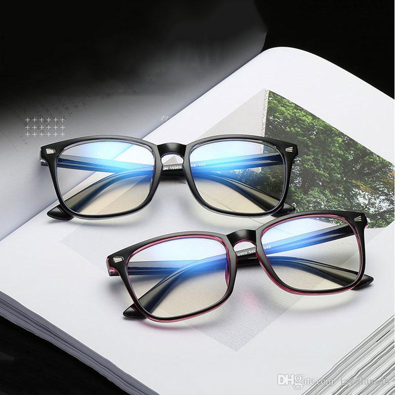 5d0598b01 Compre Anti Azul Raios Computador Óculos Homens Luz Azul Revestimento Óculos  De Jogos Para Proteção Do Computador Olho Retro Espetáculos Mulheres De ...