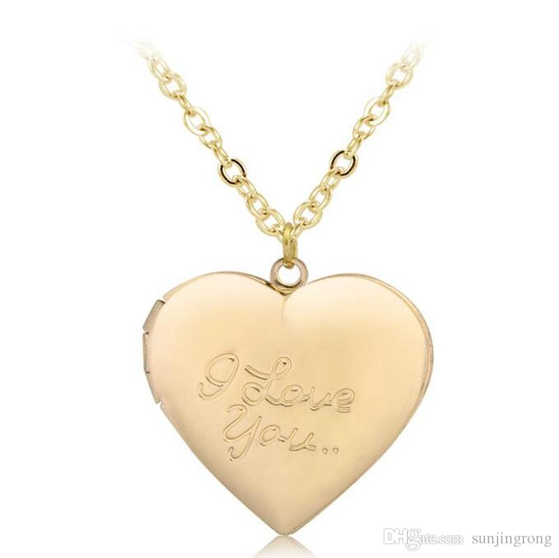 Wholesale Heart Shaped Friend Photo Picture Frame Fashion Locket