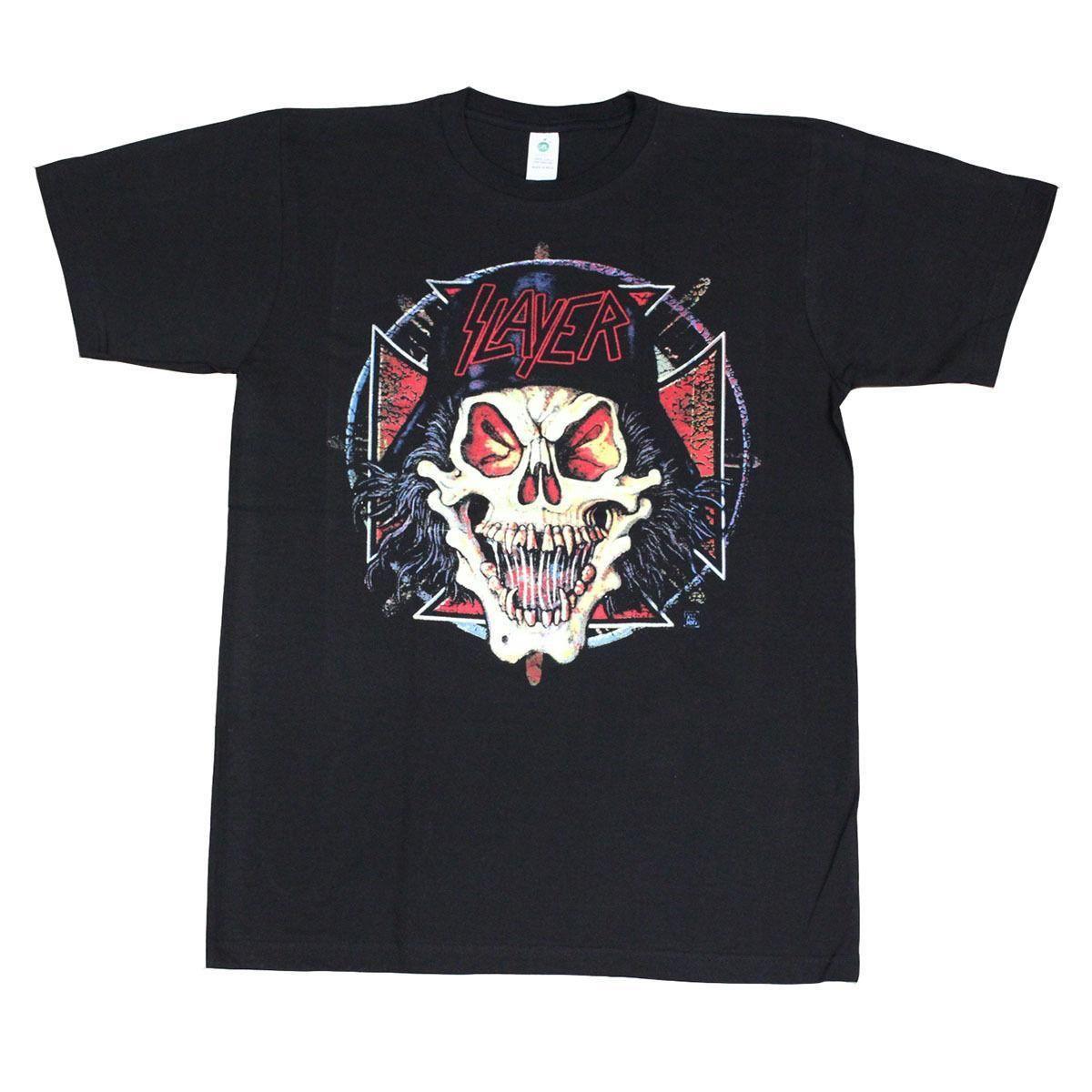 Slayer Hell Skull Mens T Shirt Black Custom T Shirts Funny Cool