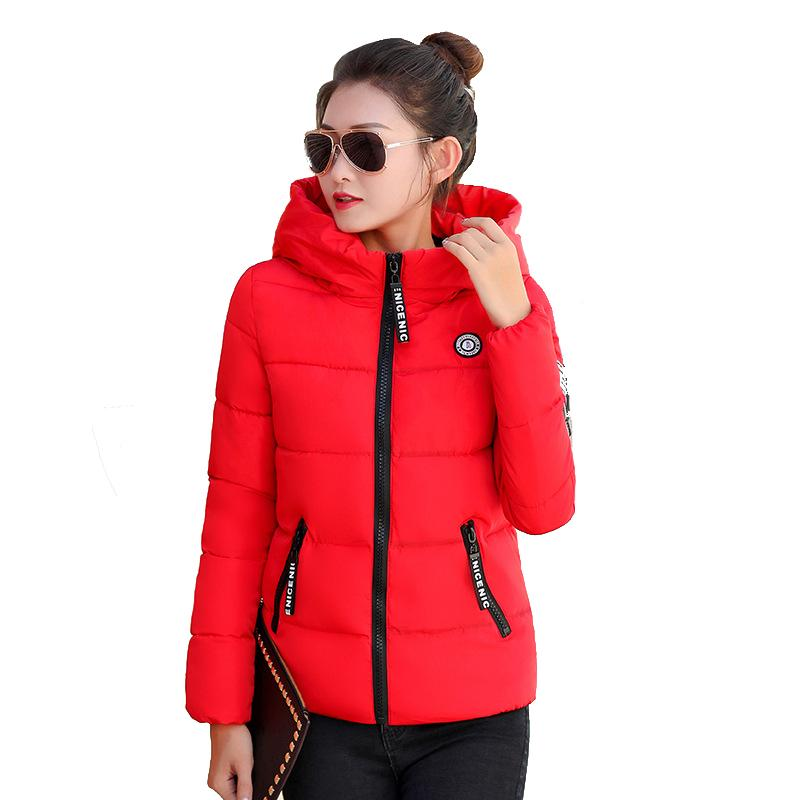 4bd84f5ee Green Winter Jacket Women Plus Size Autumn Cotton Padded Quilted Puffer  Outwear Coat Long Sleeve Black Hooded Parka 4XL