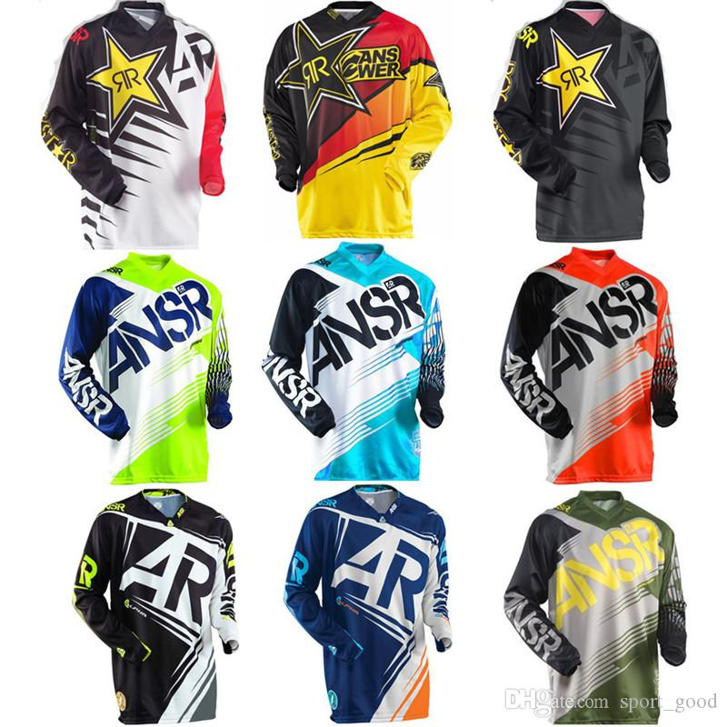 15 Farben Moto Trikots neue Rockstar Jersey Breathable Motocross Racing Downhill Off-Road Berg Motorrad Shirt Sweatshirt T-Shirt