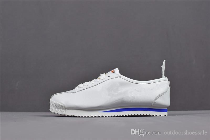 buy online 300d3 88a14 2018 Men  s Classic Cortez Basic De Cuero Zapatos Casuales Original Peso  Ligero Desinger Sneaker Zapato Caliente Venta Estilo Fasion Por  Outdoorshoessale, ...