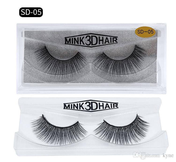 Auf MINK Wimpern 20 Arten Verkauf / 100% reale sibirischen 3D Full-Streifen falschen Wimpern Lange Einzelne Wimpern Wimpern Verlängerung