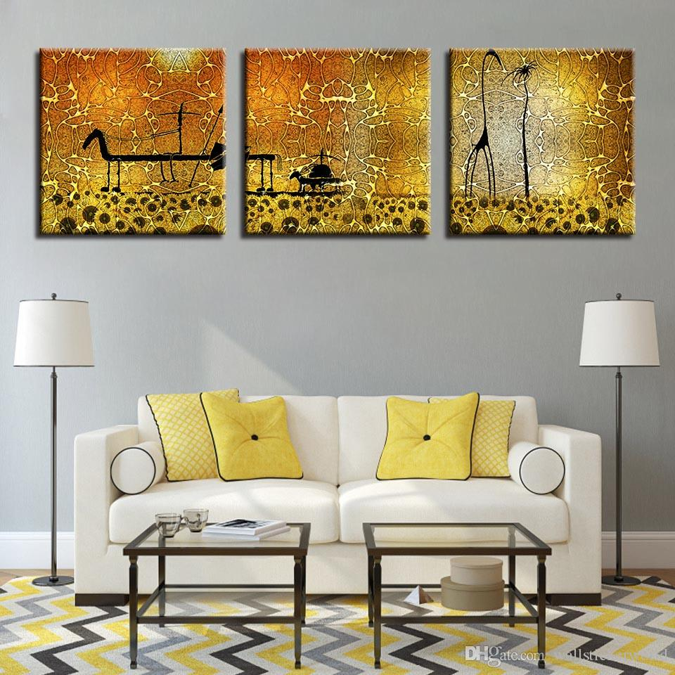 2019 Canvas Hd Prints Pictures Frame Living Room Home Decor Sunflower Flower Sea Paintings Giraffe Abstract Posters Wall Art From Wallstickerworld