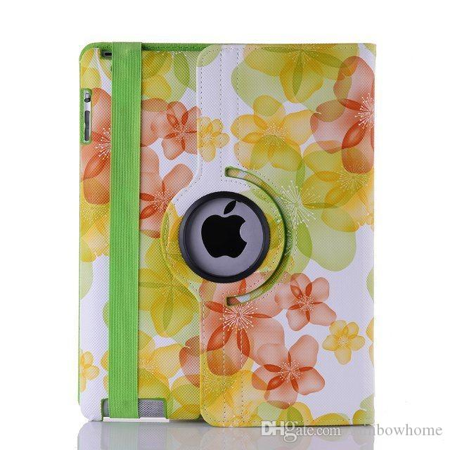 Rotary 360 Degree Rotating Crocodile Pattern Lucky Flower PU Leather Cover Case For iPad 6 5 234 Mini 4 123 New ipad 9.7 2017