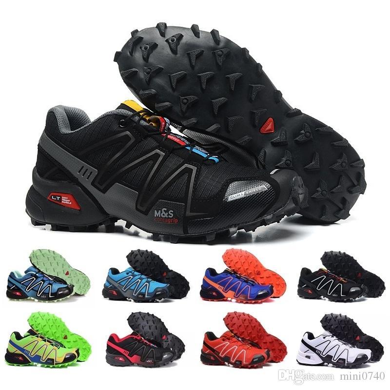 2018 New Zapatillas Speedcross 3 Chaussures Casual Hommes Vitesse cross Marche En Plein Air Sport Randonnée Athlétique Sneakers Taille 40 46