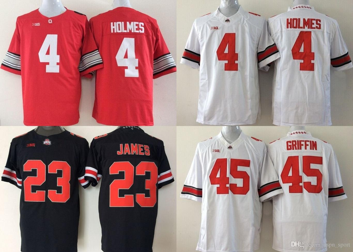 best sneakers f5e82 76ec9 Factory Outlet- Ohio State Buckeyes 4 Holmes 23 Lebron James 45 Archie  Griffin College Football Jerseys Size:S-3XL, Mix order Sport Jersey