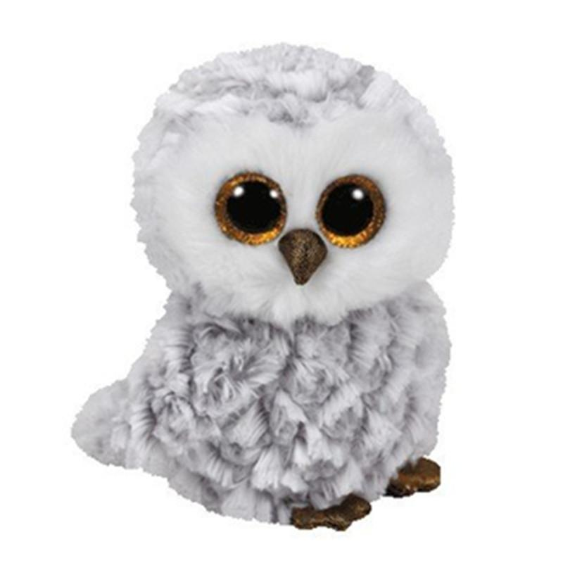 4ea912f1826 2019 Ty Beanie Boos 6 15cm Owlette The Gray Owl Plush Regular Soft Big Eyed  Stuffed Animal Bird Collection Doll Toy From Paradise02