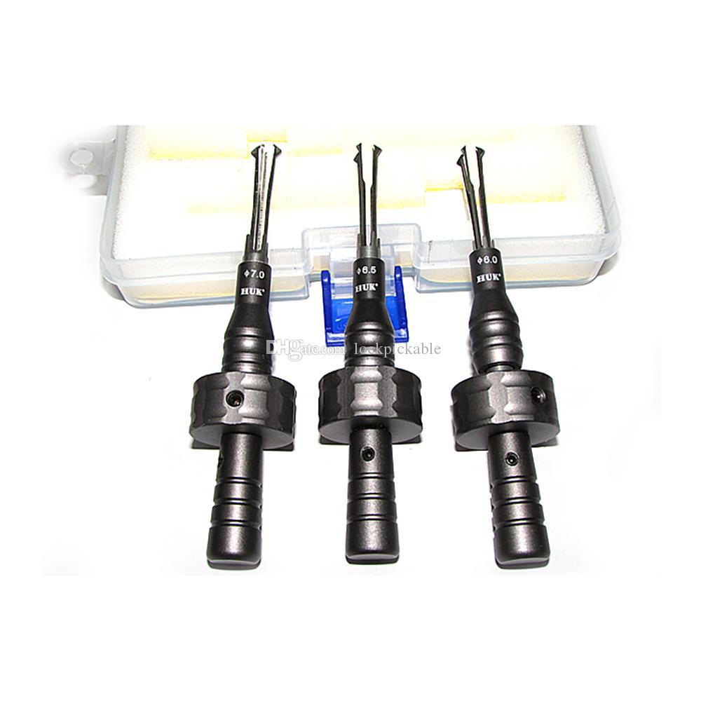 HUK 3 Stück Cross Lock Pick Set 6,0 mm, 6,5 mm, 7 mm - Qualifizierte HUK Bauschlosserwerkzeuge
