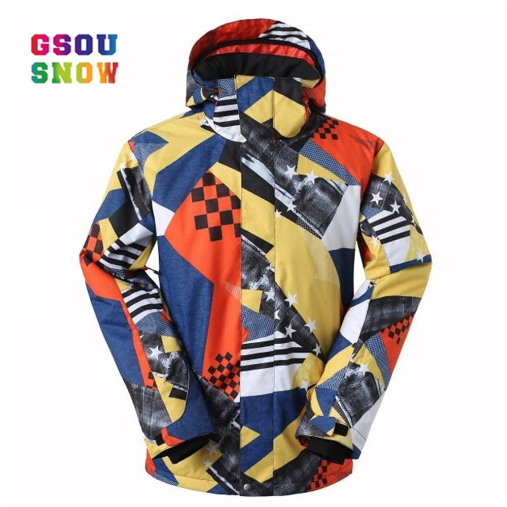 e2c14e84a2 GSOU SNOW Brand Men Ski Jackets Windproof Snowboard Jacket Men ...