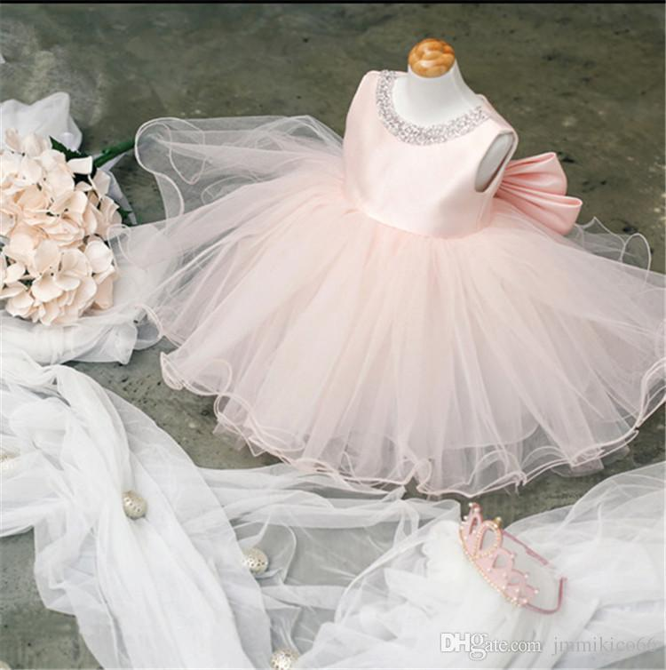 38cceedcd0769 Acheter Robe Robes De Mariée Pour Enfant Fille Fleur Robe Robe Princesse  Petite Fille Robe Jupe Princesse Peng De  70.36 Du Jmmikico66