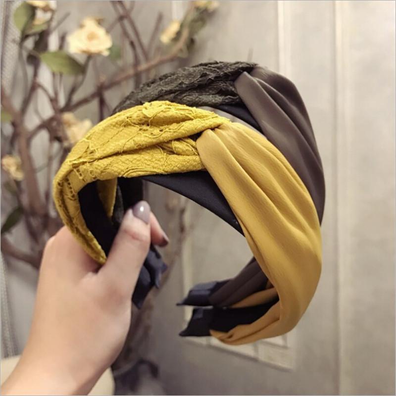 Großhandel Koreanische Boutique Haarband Spitze Stoff Kreuz Knoten ...